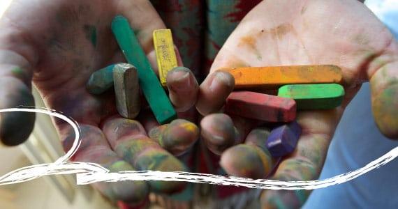 Palette de supports utilisés en art-thérapie